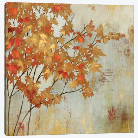 Golden Foliage Canvas Print #ASJ125} by Asia Jensen Canvas Art