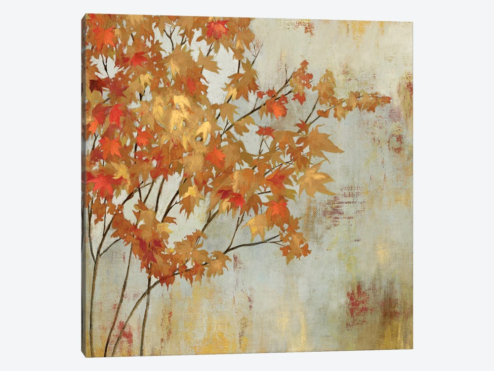 Golden Foliage by Asia Jensen 1-piece Art Print