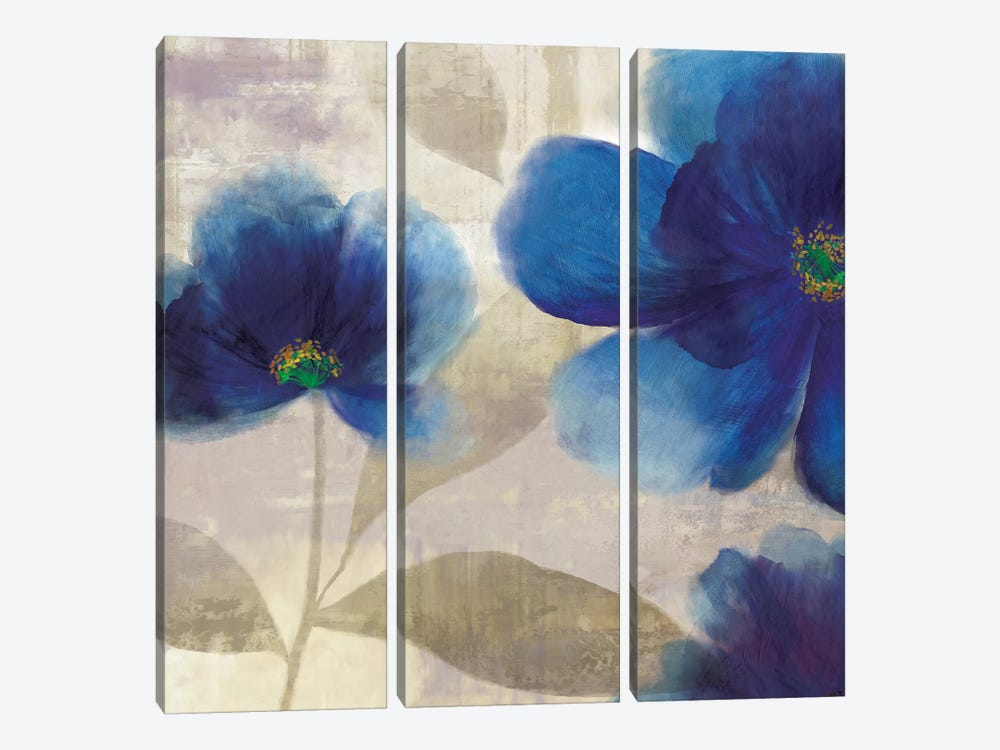 Indigo Dreams III by Asia Jensen 3-piece Art Print