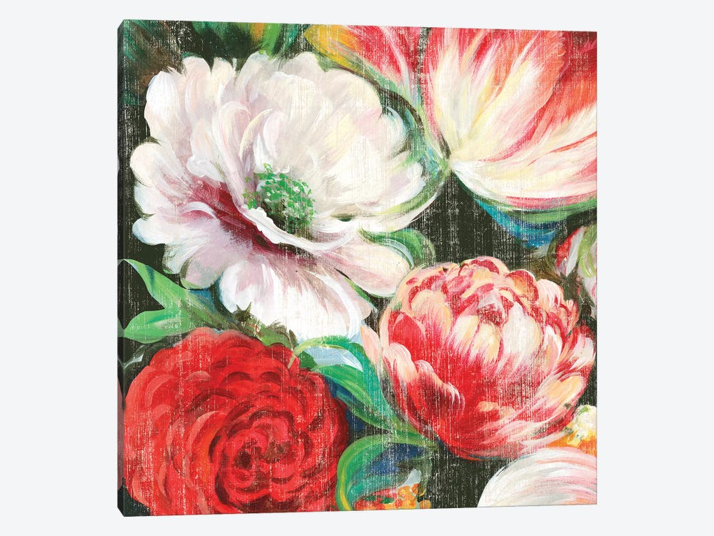 Lavish Blooms I by Asia Jensen 1-piece Canvas Art Print