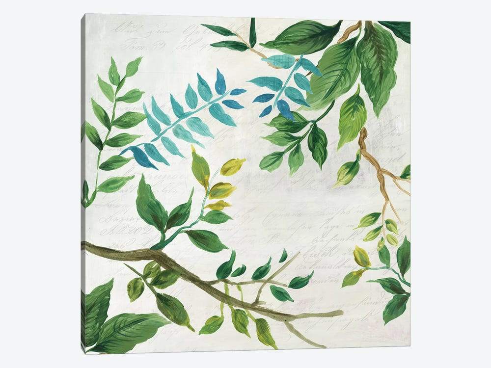 Lush Leaves by Asia Jensen 1-piece Canvas Wall Art