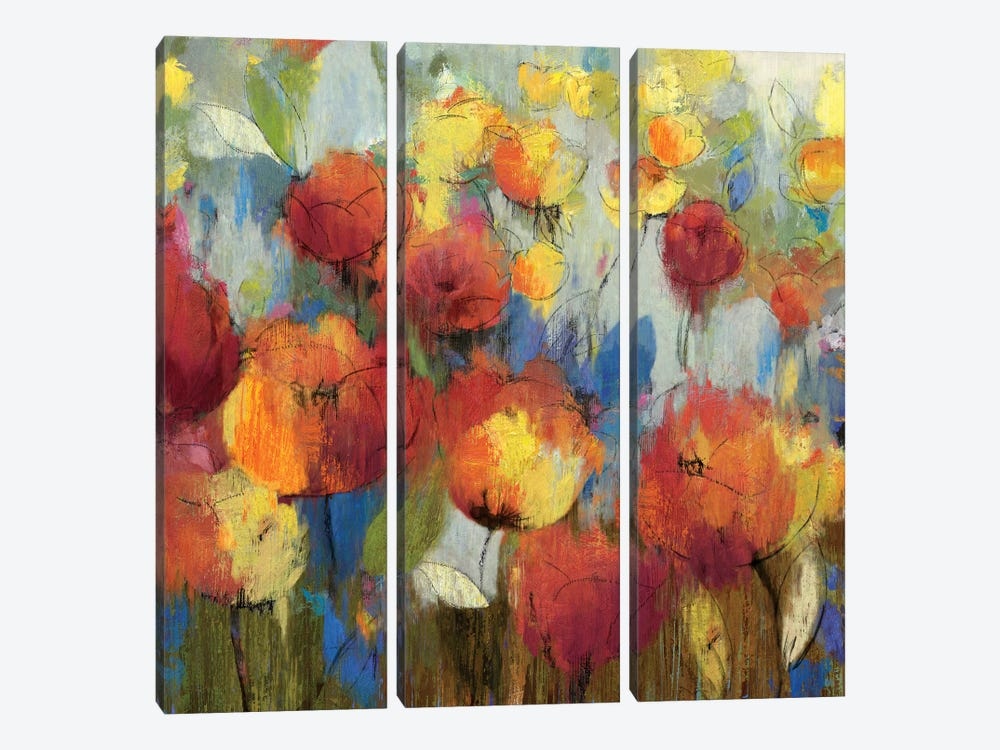 Meadow Flowers by Asia Jensen 3-piece Canvas Wall Art