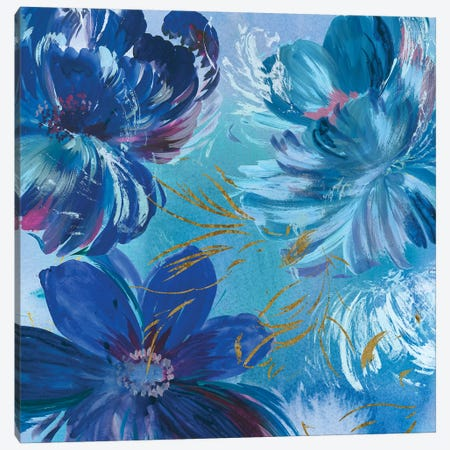 Midnight Floral I Canvas Print #ASJ189} by Asia Jensen Canvas Art Print