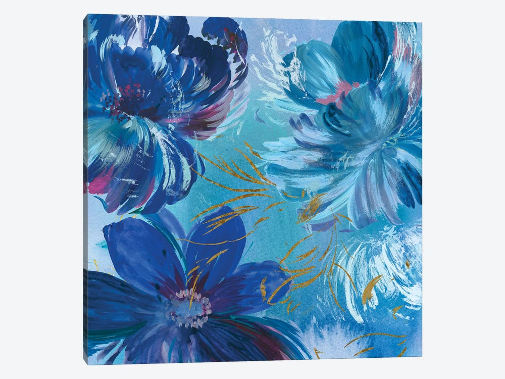 Midnight Floral I by Asia Jensen 1-piece Canvas Art Print