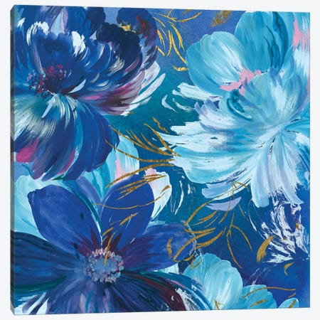 Midnight Floral II Canvas Print #ASJ190} by Asia Jensen Canvas Wall Art