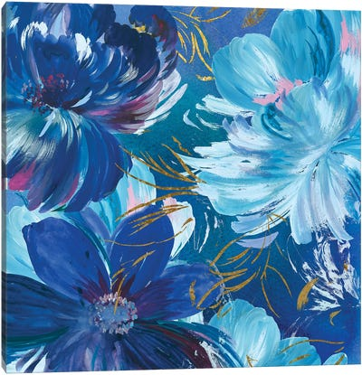 Midnight Floral II Canvas Art Print