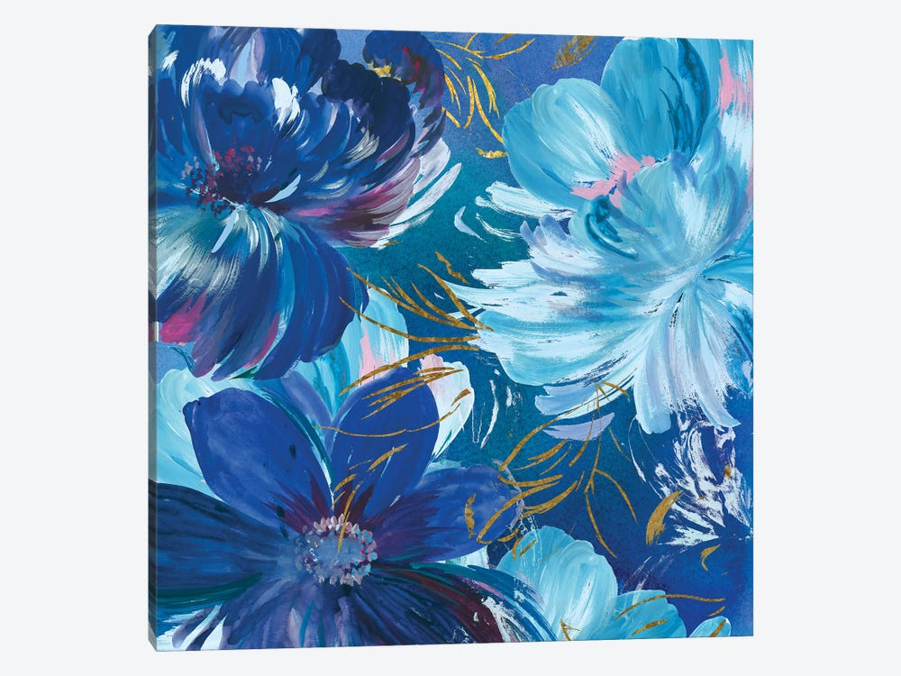 Midnight Floral II by Asia Jensen 1-piece Art Print