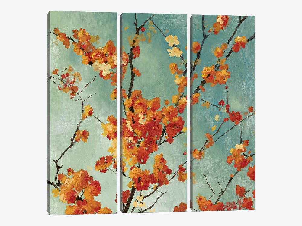 Orange Blossoms I by Asia Jensen 3-piece Canvas Print