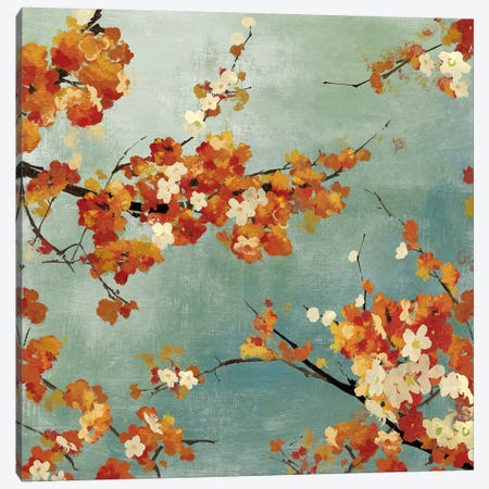Orange Blossoms II Canvas Print #ASJ213} by Asia Jensen Canvas Print