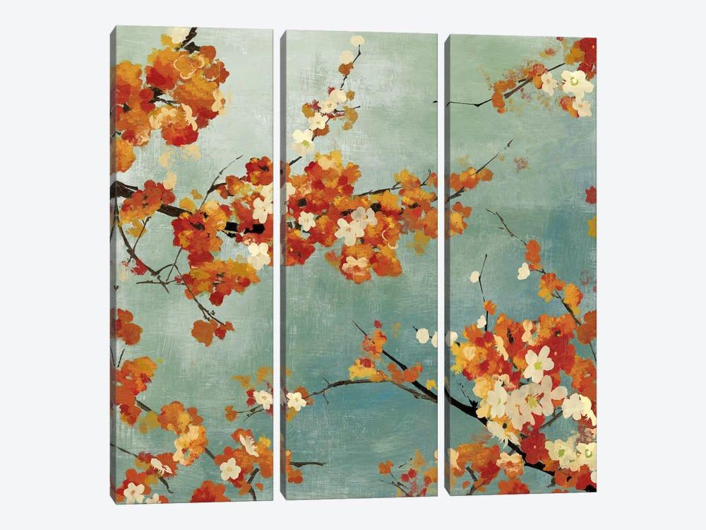 Orange Blossoms II by Asia Jensen 3-piece Canvas Art