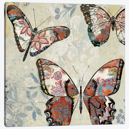 Patterned Butterflies I Canvas Print #ASJ229} by Asia Jensen Canvas Wall Art