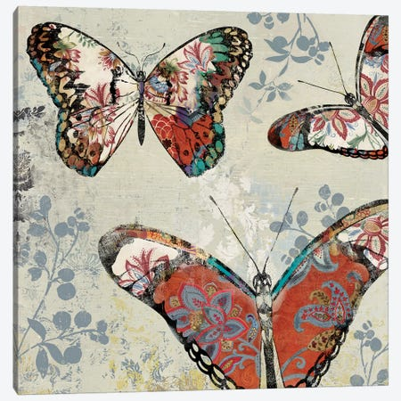 Patterned Butterflies II Canvas Print #ASJ230} by Asia Jensen Canvas Print