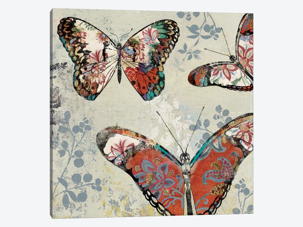 Patterned Butterflies II by Asia Jensen 1-piece Art Print