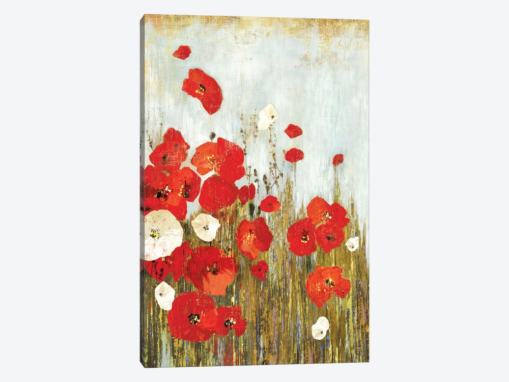 Poppies In The Wind by Asia Jensen 1-piece Canvas Art Print