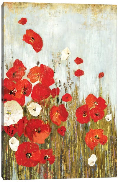 Poppies In The Wind Canvas Art Print