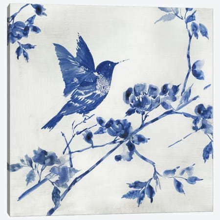 Porcelain Hummingbird Canvas Print #ASJ235} by Asia Jensen Canvas Artwork