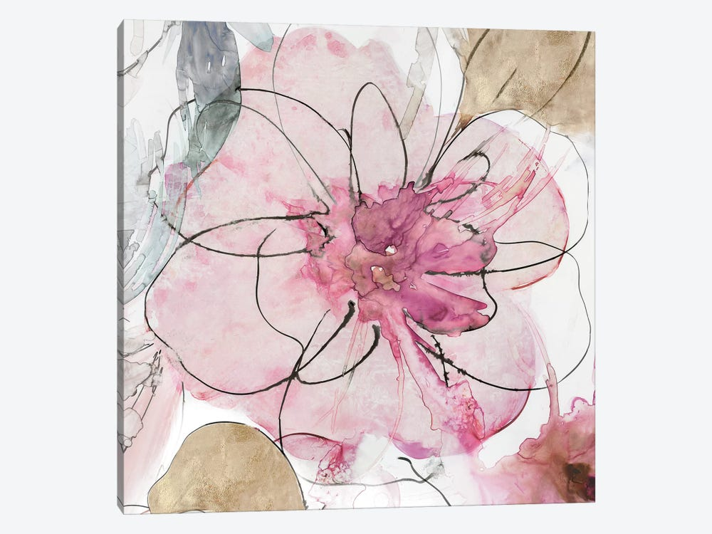 Pretty In Pink I by Asia Jensen 1-piece Canvas Art Print
