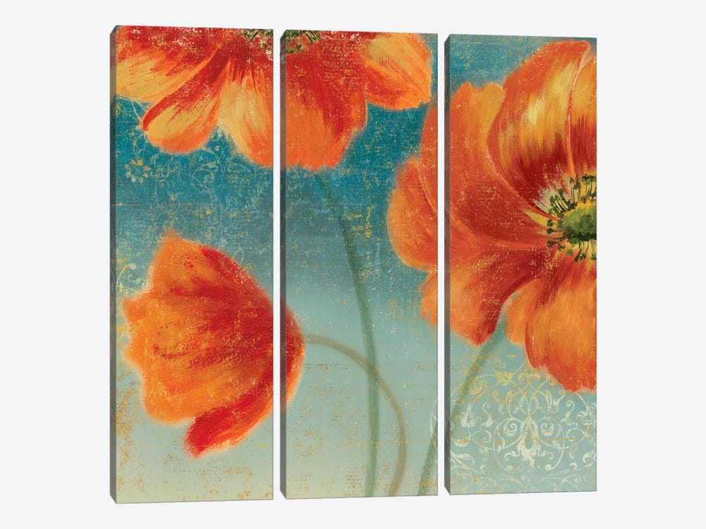 Putchy's Garden II by Asia Jensen 3-piece Canvas Art Print