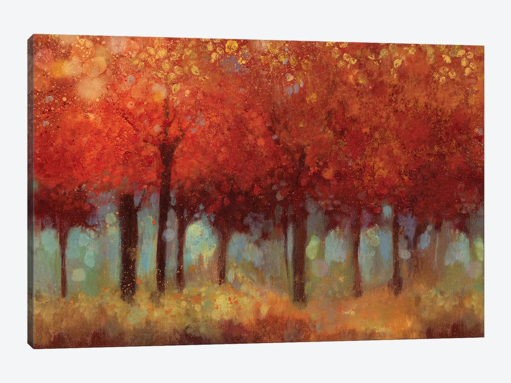 Red Forest by Asia Jensen 1-piece Art Print