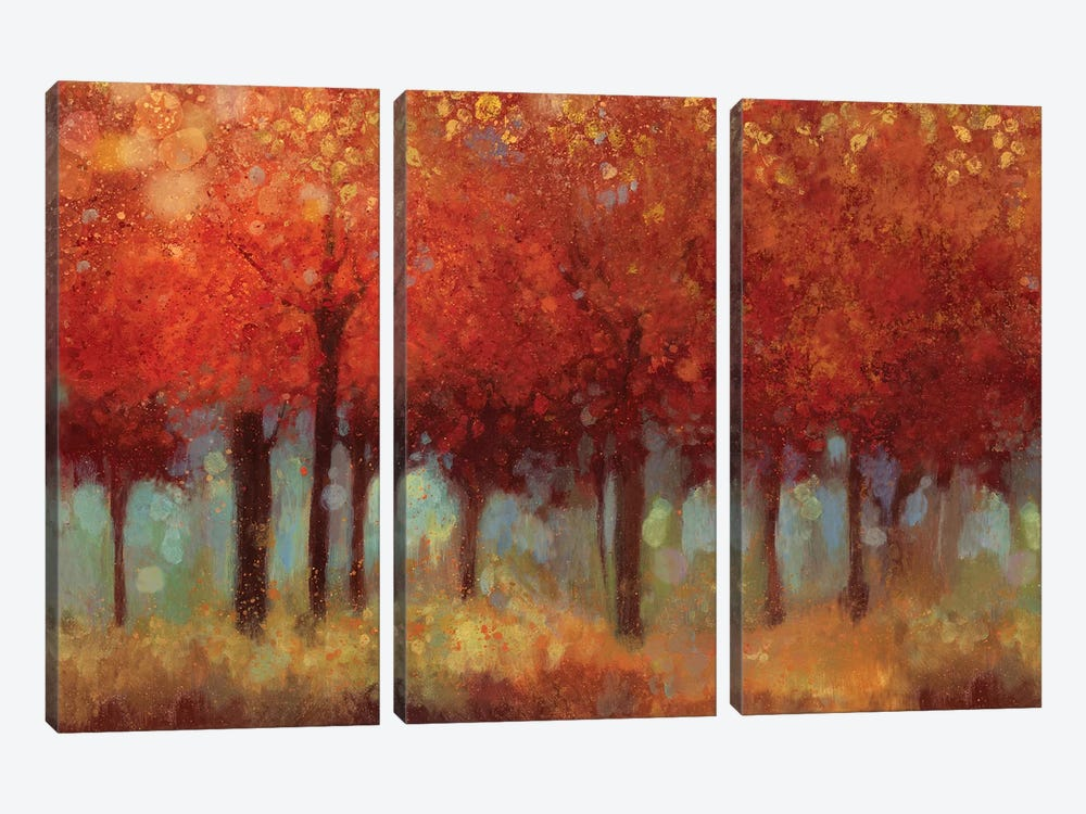 Red Forest by Asia Jensen 3-piece Art Print