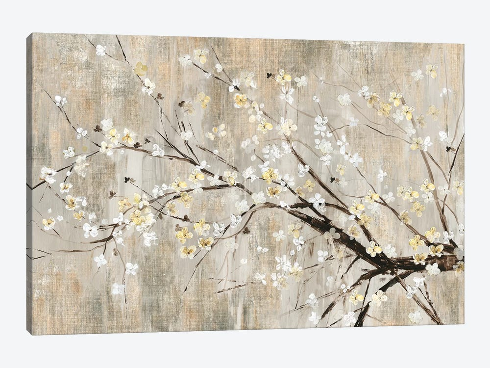Silver Apple Blooms by Asia Jensen 1-piece Canvas Print