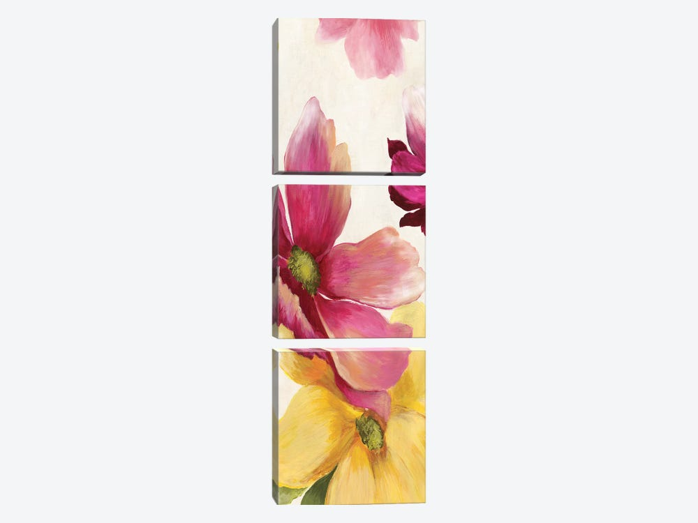 Summer Breeze II, Square by Asia Jensen 3-piece Canvas Art Print