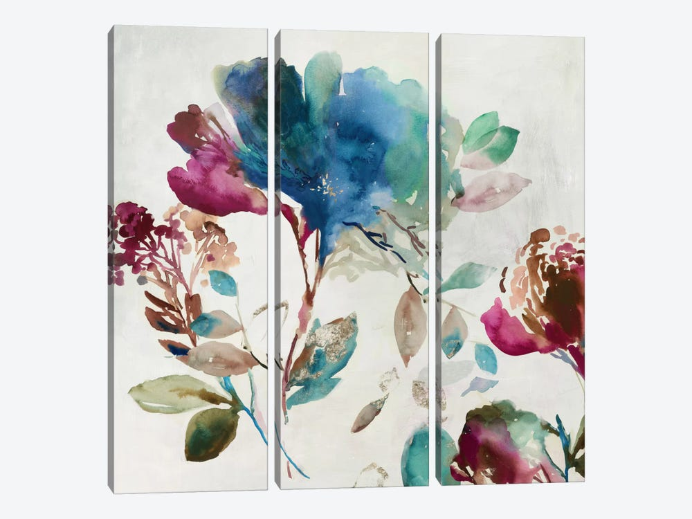 Blossoming I by Asia Jensen 3-piece Canvas Art Print