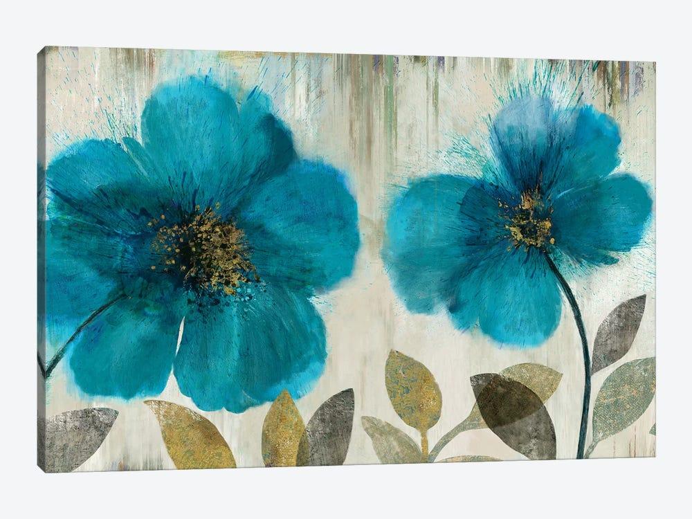 Teal Flowers by Asia Jensen 1-piece Art Print