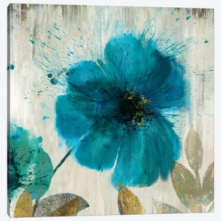 Teal Splash I Canvas Print #ASJ290} by Asia Jensen Canvas Print