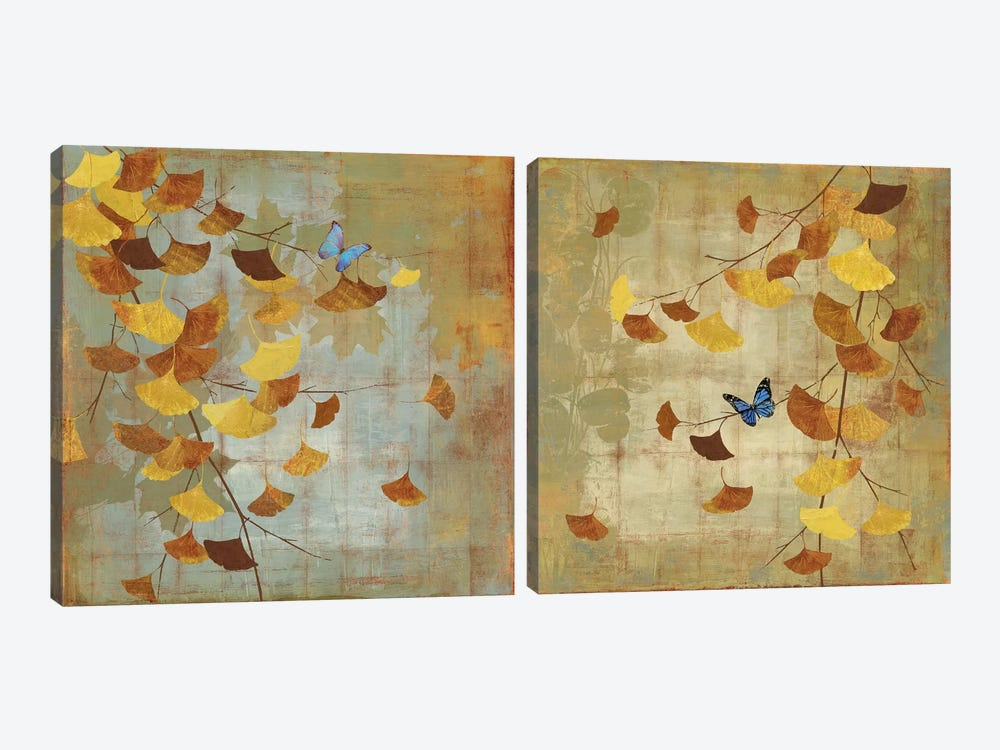 Ginkgo Branch Diptych by Asia Jensen 2-piece Art Print