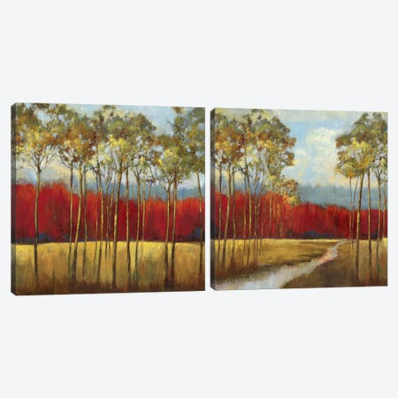In The Horizon Diptych Canvas Print Set #ASJ2HSET004} by Asia Jensen Canvas Art Print