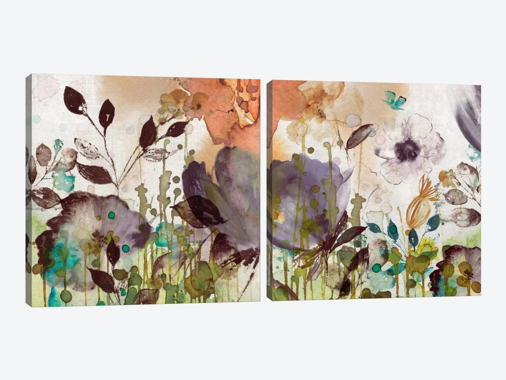 Autumn Song Diptych by Asia Jensen 2-piece Canvas Print