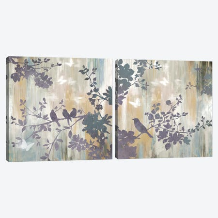 Mist Foliage Diptych Canvas Print Set #ASJ2HSET008} by Asia Jensen Canvas Wall Art