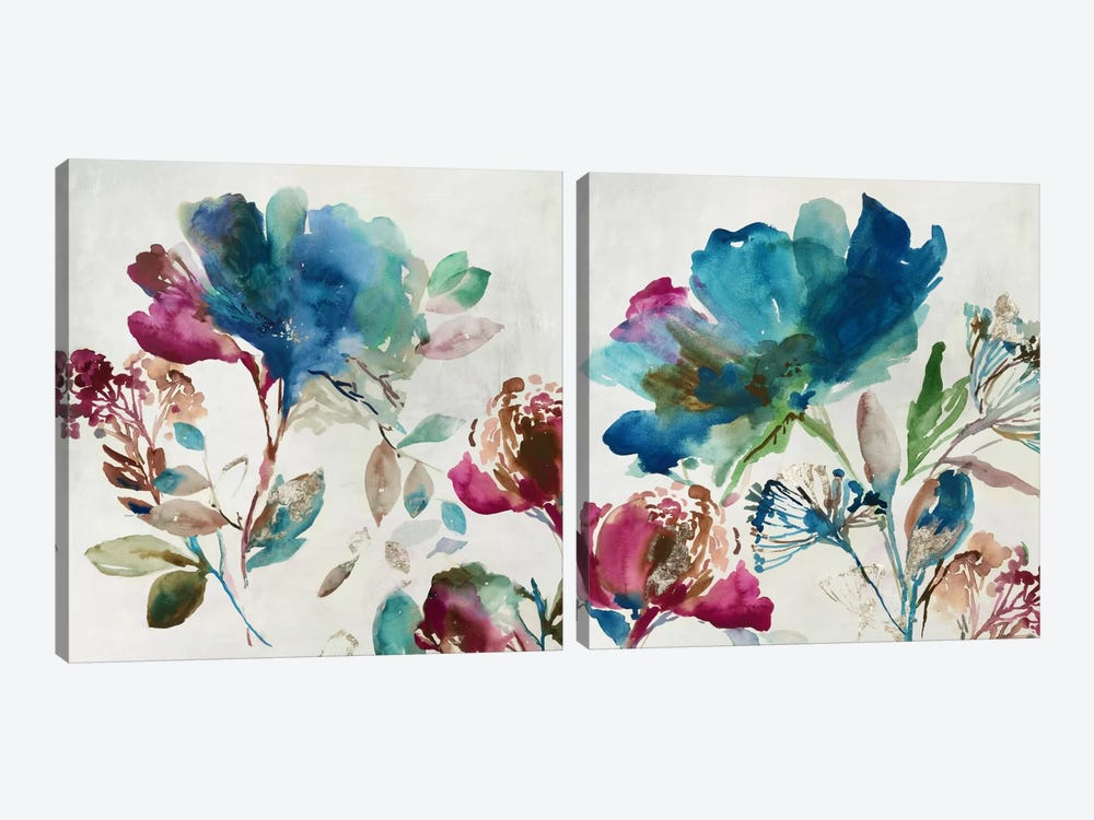 Blossoming Diptych by Asia Jensen 2-piece Canvas Artwork