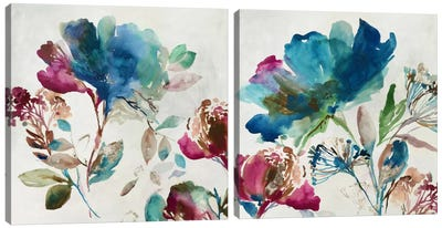 Blossoming Diptych Canvas Art Print