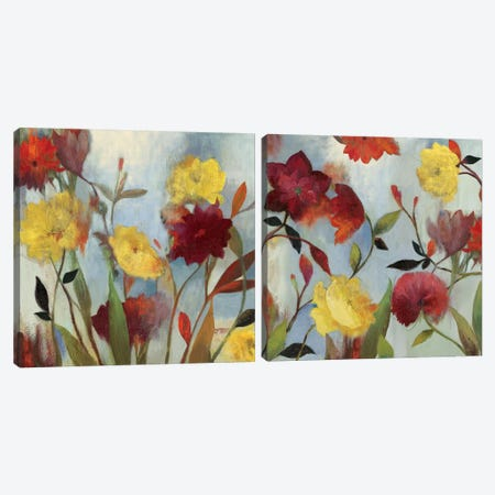 Wildflowers Diptych Canvas Print Set #ASJ2HSET017} by Asia Jensen Canvas Art