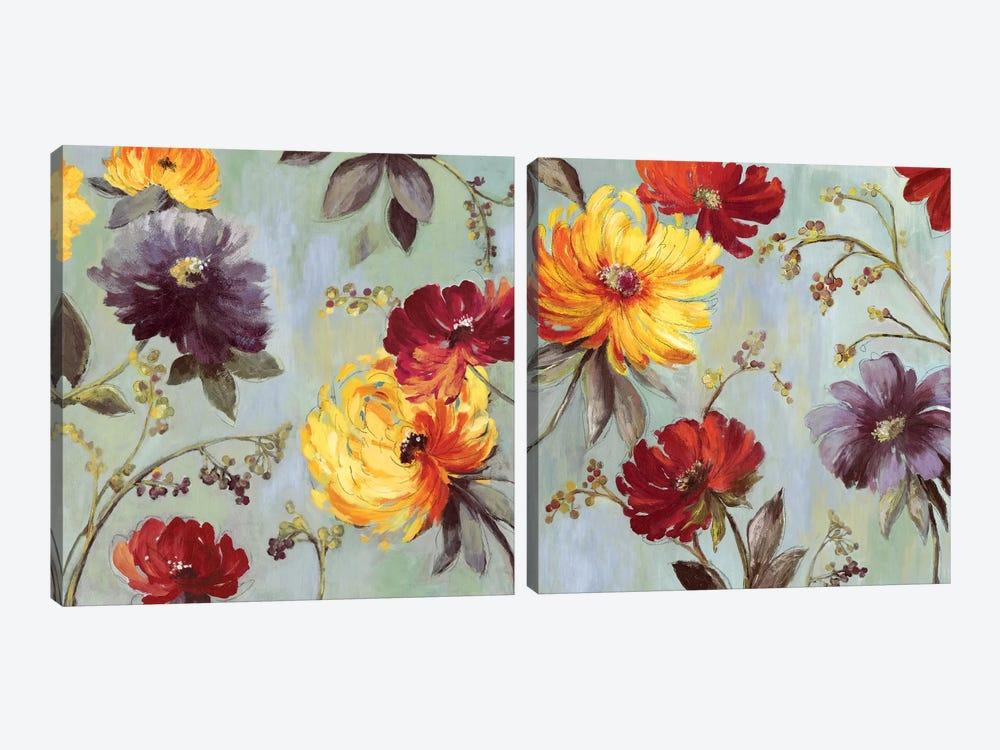 Field Flowers Diptych by Asia Jensen 2-piece Canvas Art Print