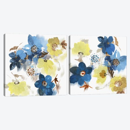 Glitchy Floral Diptych Canvas Print Set #ASJ2HSET025} by Asia Jensen Canvas Print