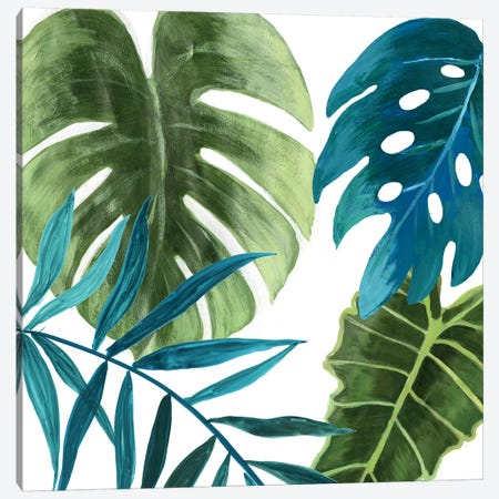 Tropical Leaves I Canvas Print #ASJ303} by Asia Jensen Art Print