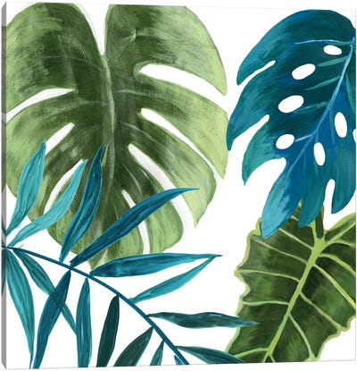 Tropical Leaves I Canvas Art Print