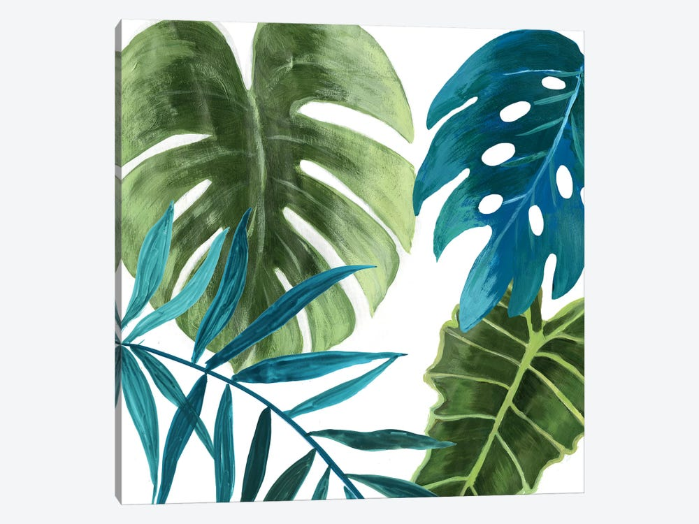 Tropical Leaves I by Asia Jensen 1-piece Canvas Wall Art