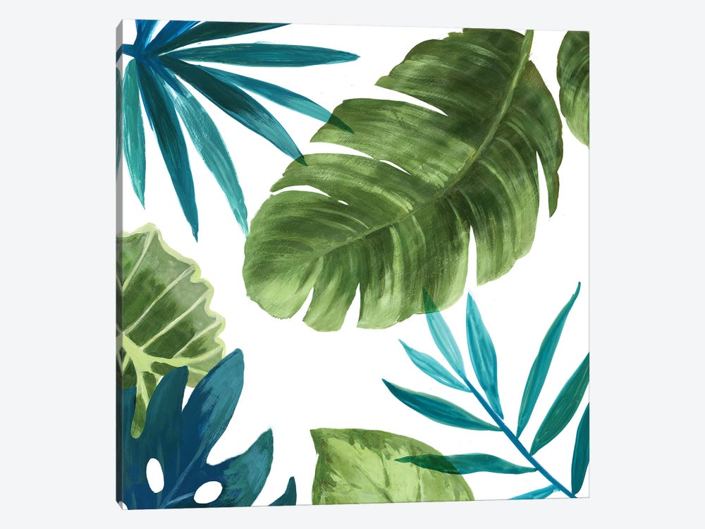 Tropical Leaves II by Asia Jensen 1-piece Canvas Art Print