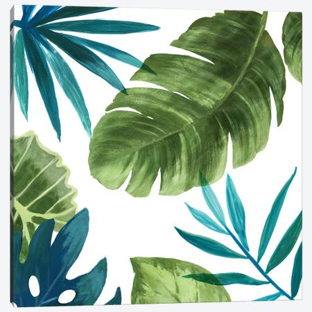 Tropical Leaves II Canvas Print #ASJ304} by Asia Jensen Canvas Wall Art