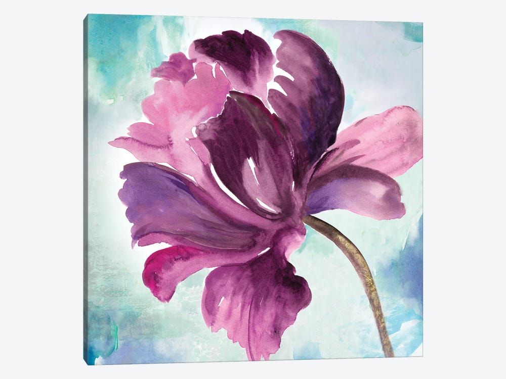 Tye Dye Floral II 1-piece Canvas Art Print