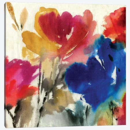 Watercolour Florals I Canvas Print #ASJ319} by Asia Jensen Canvas Wall Art