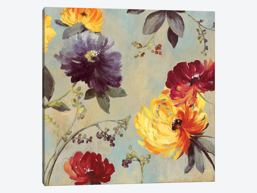 Whimsical Floral I by Asia Jensen 1-piece Canvas Art