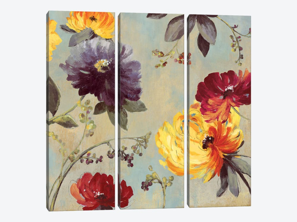 Whimsical Floral I by Asia Jensen 3-piece Canvas Wall Art