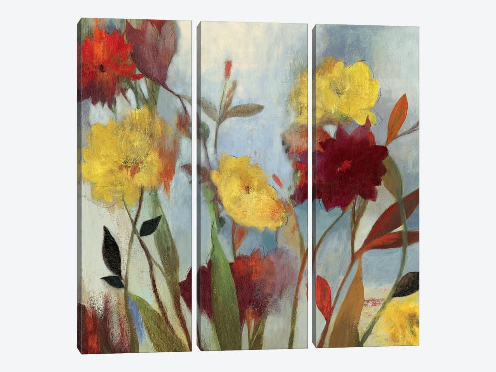 Wildflowers I by Asia Jensen 3-piece Canvas Art Print