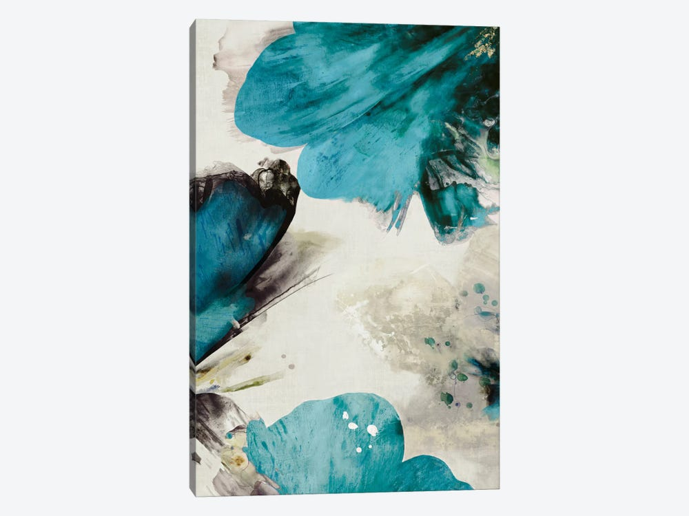 Blue Ribbon Blooms II by Asia Jensen 1-piece Art Print