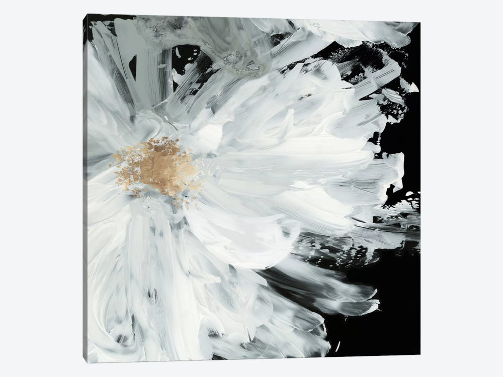 Black Peony by Asia Jensen 1-piece Canvas Print